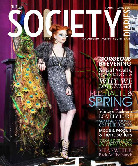 society diaries march april    society
