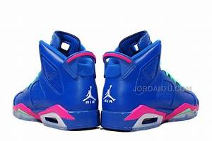 American Shoe Size Chart Free Shipping Girls Air Jordan 6 Retro Gs Game Royal White