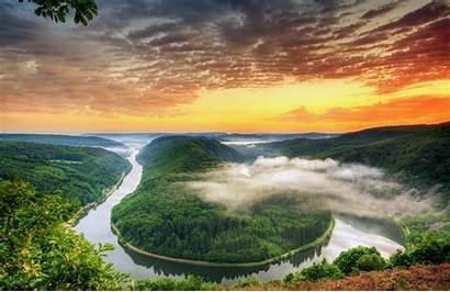 River Forest Landscape Nature Peruana Amazonia Sunset