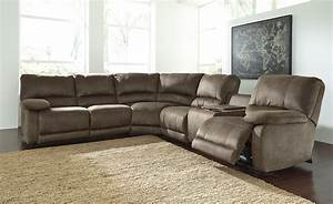 Buy ashley furniture seamus powered reclining sectional for Sectional sofas with 4 recliners