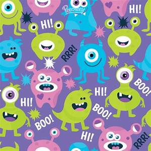 Cute monsters seamless background Free vector in Adobe ...