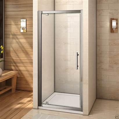 Shower Pivot Door Glass Screen Walk Enclosure