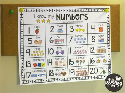 printable number chart for numbers 1 20 classroom 507 | e2cffd7db06cc0ccfe3ddcbcdc1b665b