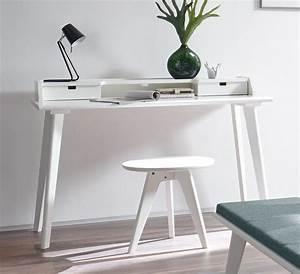 Sekretär Weiß Modern : moderner sekret r und schreibtisch im retrostil buche wei narva ~ Indierocktalk.com Haus und Dekorationen