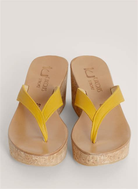 lyst  jacques diorite wedge sandals  yellow