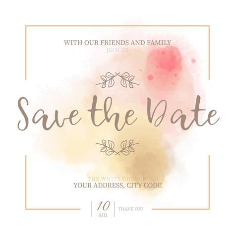 golden pink save date invitation baixar vetores gratis