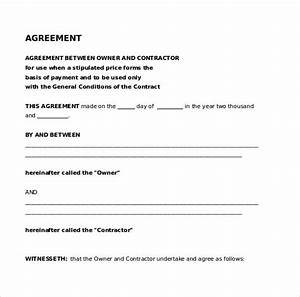 Payment agreement contract cleaning contract template for Legal document templates free download