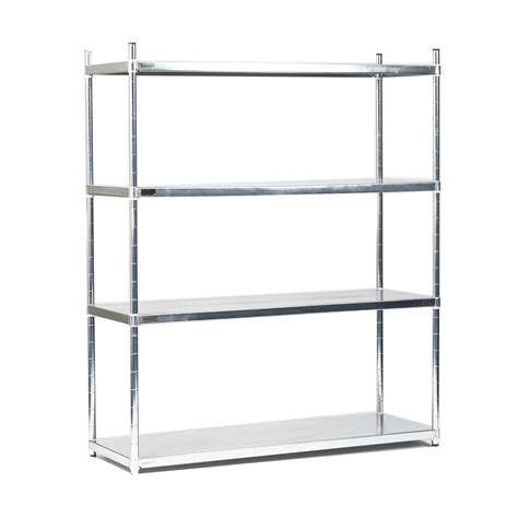 stainless steel solid kitchen shelving 4 tier stainless steel solid quartermaster starter bay