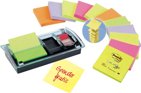 bureau distributeur postal post it 9006075 à 20 90 post it distributeur z notes