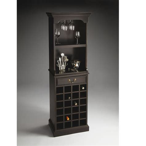 black wine cabinet rubbed black wine storage cabinet at brookstone buy now