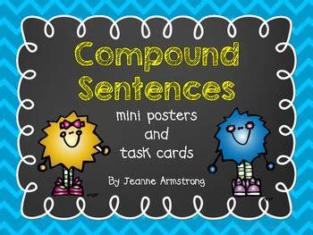 compound sentences mini posters  task cards  jeanne