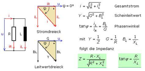 zeigerdiagramme und formeln zu rlc schaltungen