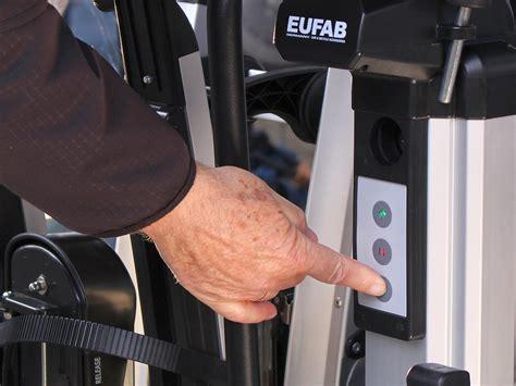 fahrradträger e bike test eufab mit elektrisch absenkbaren e bike fahrradtr 228 ger