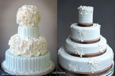 Light Blue And White Wedding Cakes