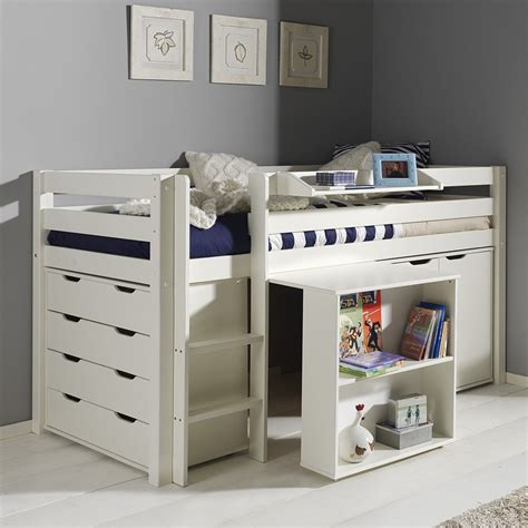 bureau encastrable lit mezzanine enfant en pin my