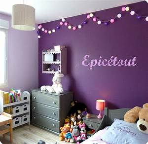 stunning chambre fille gris et mauve pictures seiunkel With deco chambre gris et mauve