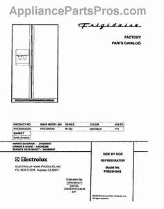 Parts For Frigidaire Frs26h5asb5  Cover Parts