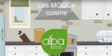 afpa stains formation cuisine l afpa lance un mooc cuisine consacré à la pâtisserie la