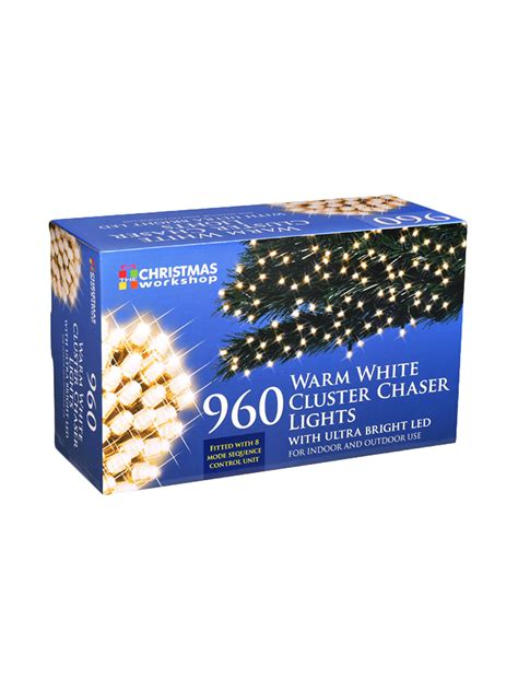 led chaser cluster christmas light string indoor outdoor