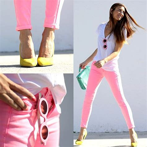 How to wear Neon Jeans- Coloured Jeans Trends for Summer | Fashion Mate | Fashion Mate