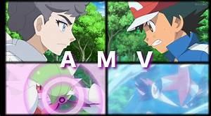 Pokemon XYZ Ash Vs Diantha AMV Never Back Down (Greninja ...