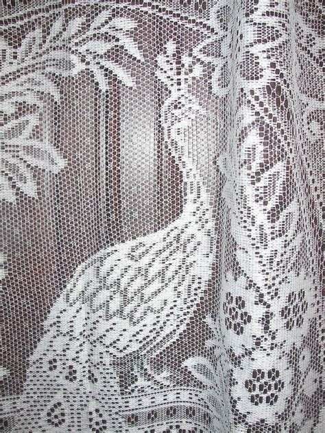 vintage country net floral lace bird