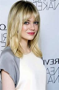 Medium Length Blonde Hairstyles with Bangs