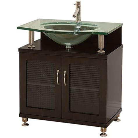 Modern Bathroom Glass Vanities by Accara 30 Quot Bathroom Vanity Doors Only Espresso W
