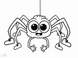 Spider Coloring Pages Halloween Cute Fly Printable Guy Minecraft Iron Print Drawing Eyes Template Ghost Lucas Sheets Getcolorings Insect Bitsy sketch template
