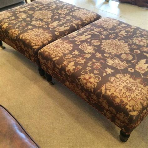 large square upholstered ottoman pair of large square upholstered ottomans at 1stdibs