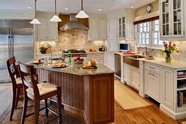 kitchen triangle design traditional farmhouse kitchens and cookbook storage on 3391
