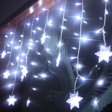 xtmas led snowflake tree hanging curtain fairy light