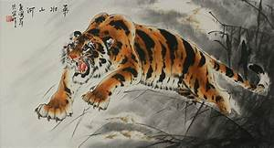 Chinese Tiger Painting - Mr. Wang's Charcoal Art Drawings ...