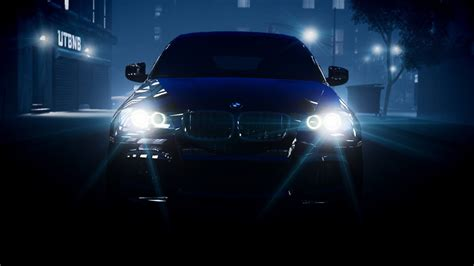 Bmw Lights Headlights X6 Night Hd Wallpaper Cars