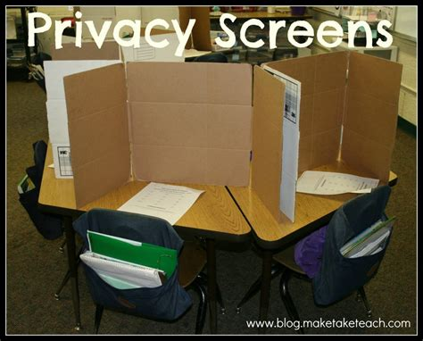 cardboard privacy screens for desks super easy privacy screens make take teach