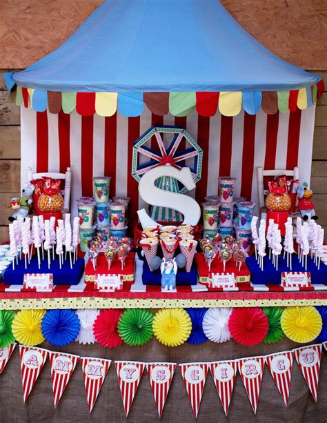 Colorful Circus  Carnival Party Ideas Simonemadeitcom