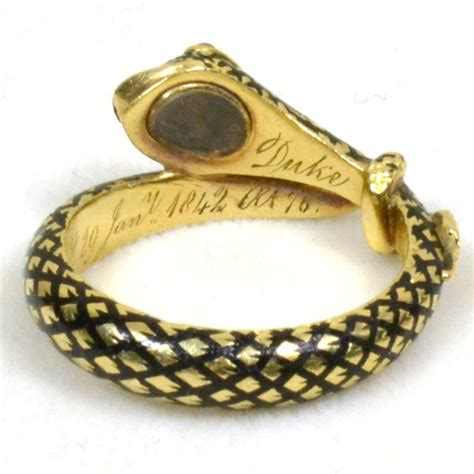 William Harry Vane Serpent Mourning Ring  Art Of Mourning. Twisted Vine Wedding Rings. Intertwined Wedding Rings. Ancient Rings. $70000 Rings. K Color Engagement Rings. Buckle Rings. Single Band Engagement Rings. Dual Rings