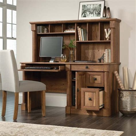 desk with hutch walmart sauder palladia computer desk with hutch vintage oak