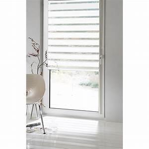 Store Enrouleur Bois : store enrouleur jour nuit inspire blanc blanc n 0 80 x ~ Premium-room.com Idées de Décoration