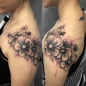 Shoulder Tattoo Flowers Girly | Best Tattoo Ideas Gallery
