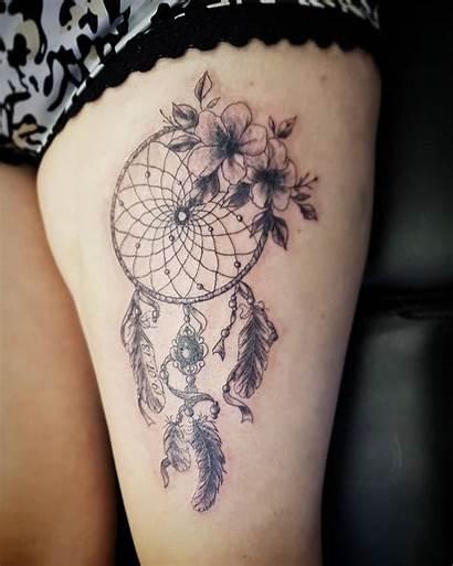 Tattoo Catcher Dream Dreamcatcher Tattoos Flowers Designs