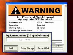 arc flash software arc flash labels youtube With arc flash label printer