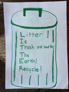 Poem for Kids Earth Day Littering