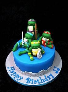 ninja, turtle, cakes, , u2013, decoration, ideas