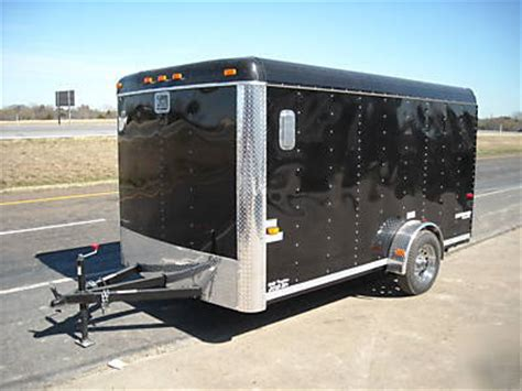 7x12 Enclosed Utility Cargo Two Bike Motorcycle Trailer