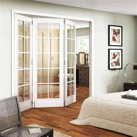 trifold interior sliding french doors  bedroom home