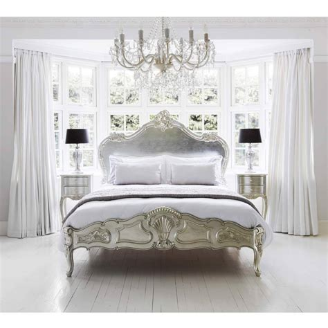 king poster beds sylvia serenity silver bed luxury bed
