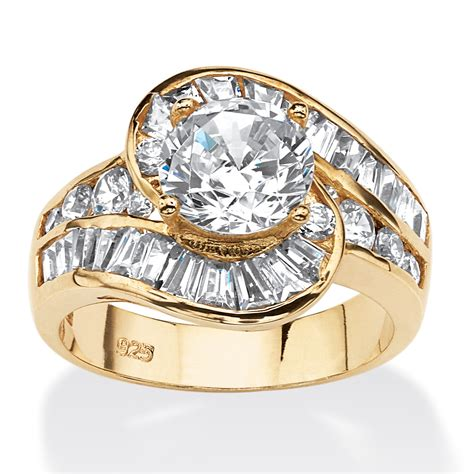 479 Tcw Round Cubic Zirconia Bypass Ring In 14k Gold Over. Goal Wedding Rings. Belle Engagement Rings. Wish Engagement Rings. Box Wedding Wedding Rings. Seed Pearl Wedding Rings. Entwined Rings. Yellow Diamond Rings. June 19 Wedding Rings