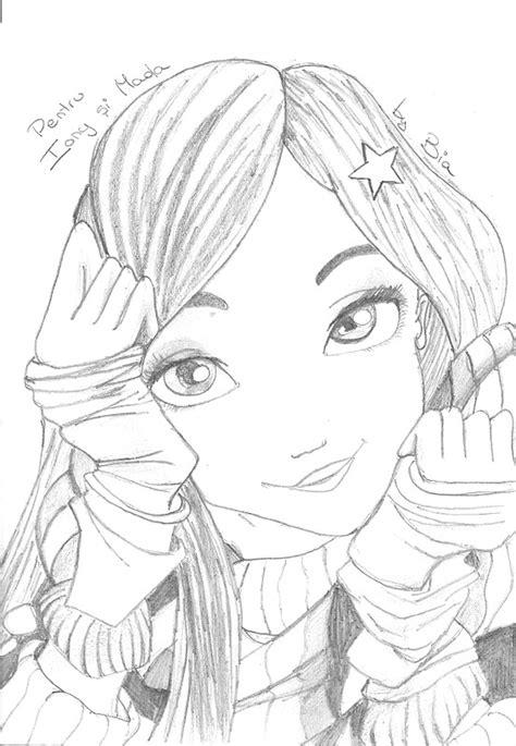 disegni  ragazze  matita facili