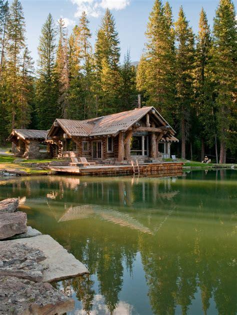 small lake house houzz